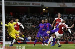 Hasil Liga Inggris : Arsenal Tahan Imbang Liverpool 1-1