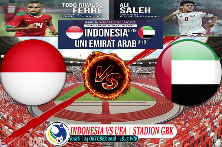 Prediksi Piala AFC U-19 : Indonesia Vs UEA 24 Oktober 2018