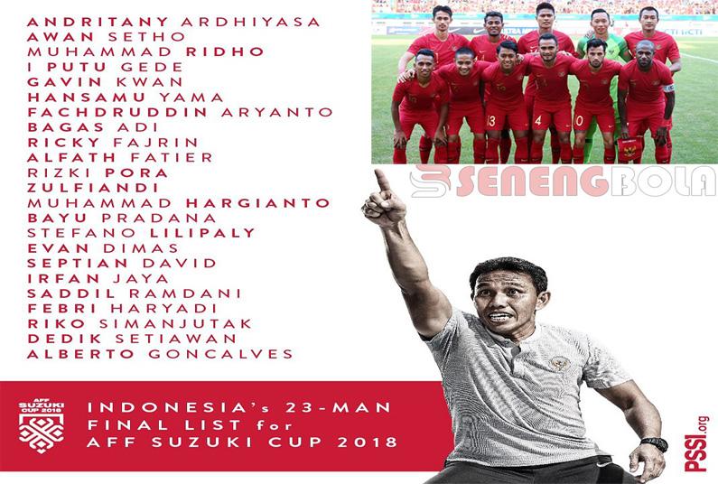 Timnas Indonesia Sudah Mempersiapkan Para Pemainnya Untuk Piala AFF 2018