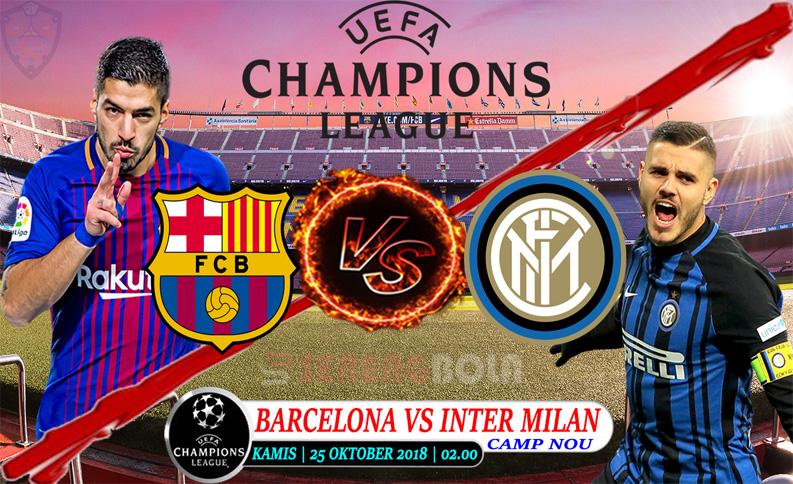 Prediksi Champions League : Barcelona Vs Inter Milan 25 Oktober 2018