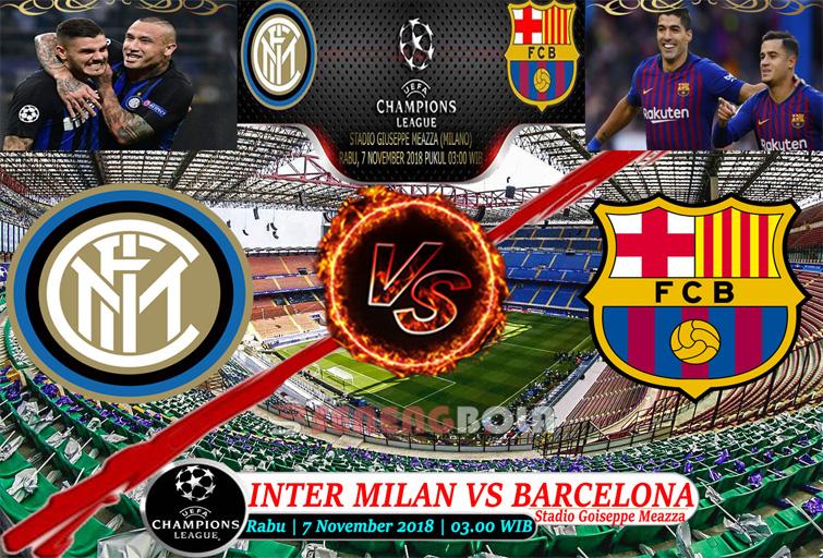 Prediksi Liga Champions : Inter Milan Vs Barcelona 7 November 2018
