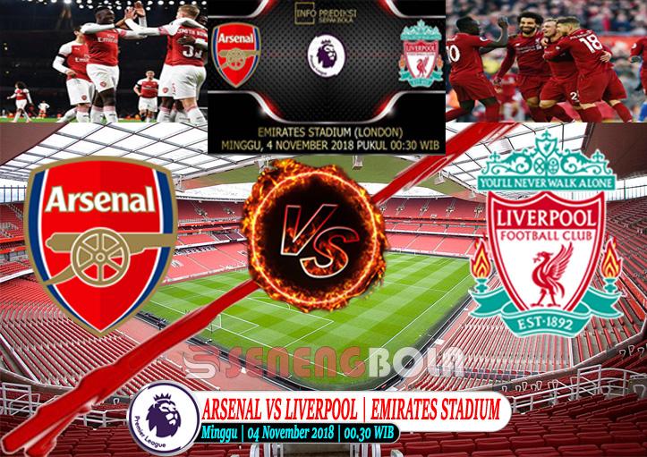 Prediksi Liga Inggris : Arsenal Vs Liverpool 4 November 2018