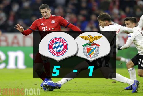 Hasil Liga Champions : Bayern Munchen Tekuk Benfica 5-1