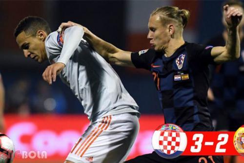 Hasil UEFA Nations : Kroasia Taklukan Spanyol 3-2