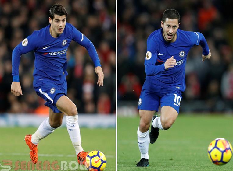 Pemain Chelsea, Morata dan Hazard Mulai Kurang Percaya Diri