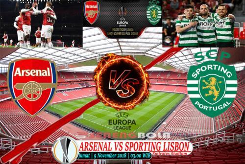 Prediksi Liga Eropa : Arsenal Vs Sporting Lisbon 9 November 2018