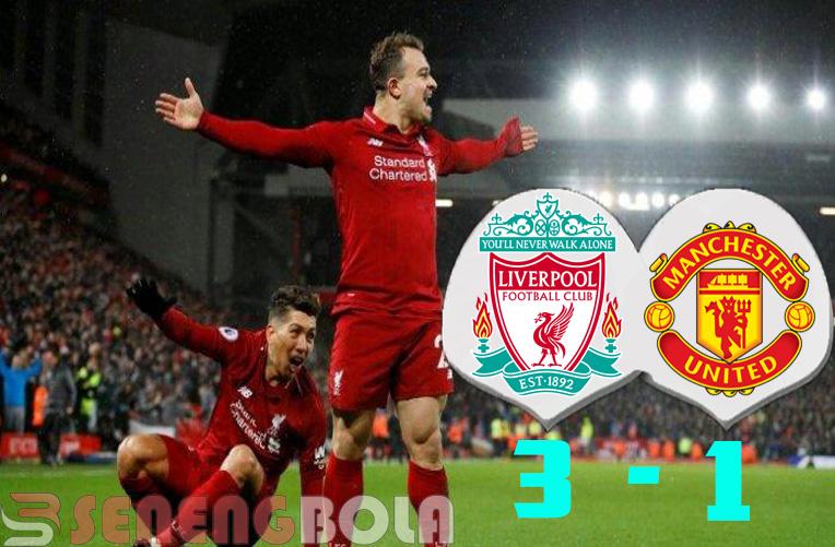 Hasil Liga Inggris : Liverpool Redam Manchester United 3-1