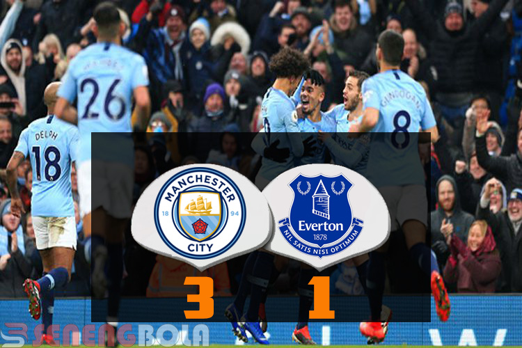 Hasil Liga Inggris : Manchester City Tundukan Everton 3-1