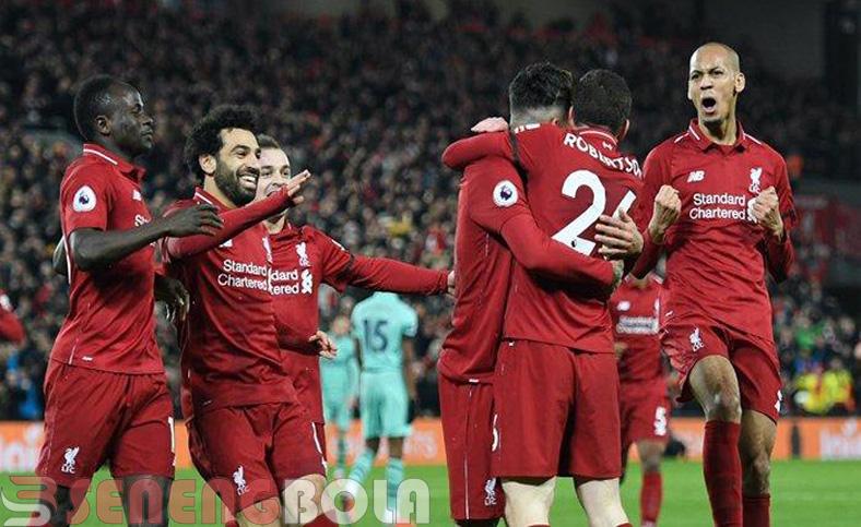 Hasil Liga Inggris : Liverpool Bantai Arsenal 5-1