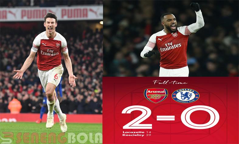 Hasil Liga Inggris : Arsenal Tekuk Chelsea di Emirates 2-0