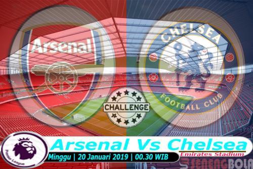 Prediksi Liga Inggris : Arsenal Vs Chelsea 20 Januari 2019